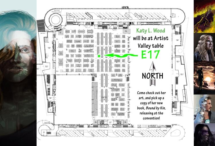 Denver Comic Con Table Location Map